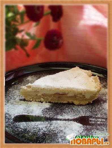 Рецепт Яблочный пирог с бисквитным покрытием