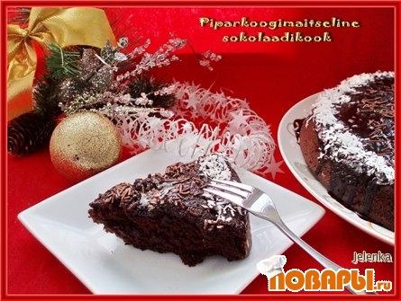 Рецепт Шоколадный пирог с пряностями (Piparkoogimaiseline sokolaadikook)