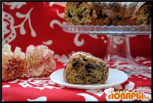 Рецепт Кекс с тыквой, черникой и шоколадом