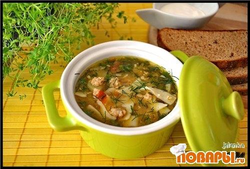 Рецепт Быстрый суп с фаршем