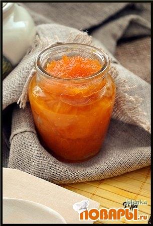 Рецепт Тыквенный джем с ароматом лимона