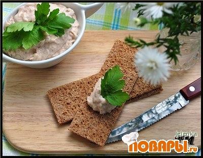 Рецепт Паштет из консервированного лосося