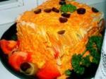Закусочный торт из курицы