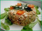 Салат из вермишели быстрого приготовления  и печени трески