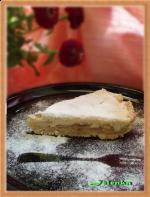 Яблочный пирог с бисквитным покрытием