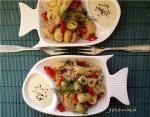 Салат из тунца с макаронами