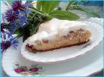 Пирог из ревеня с воздушным безе