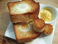 Рецепт Яйцо в корзинке или Солнечный Тост. Объедение на завтрак.