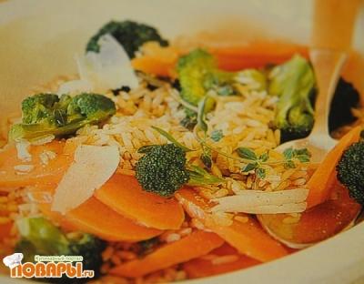Рецепт Пикантный рис с овощами