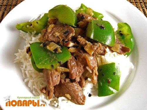 Рецепт Мясо с рисом по Азиатски