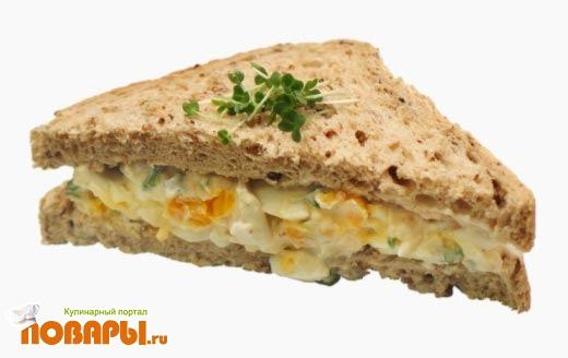 Рецепт Бутерброд Яичный