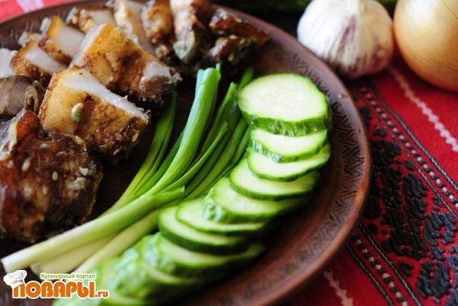 Рецепт Рецепт Сало «на Китайский мотив»