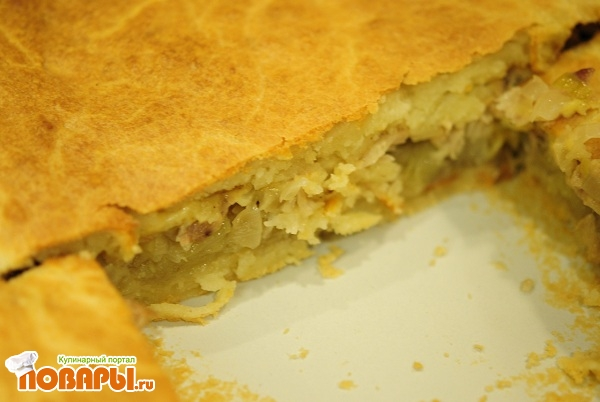 Рецепт Пирог «Вкусный ленивчик» без раскатки теста