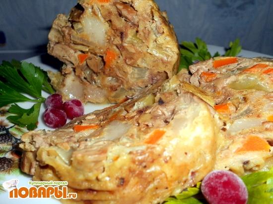 Рецепт Домашний зельц из печени