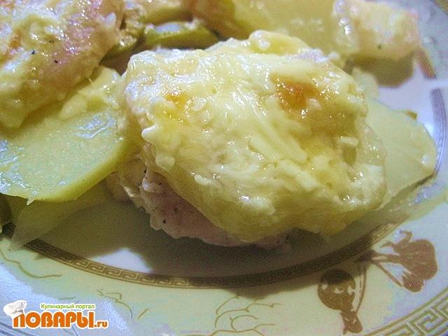 Рецепт Запеканка с курицей и оливками