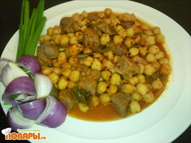 Рецепт турецкий горох нут с бараниной