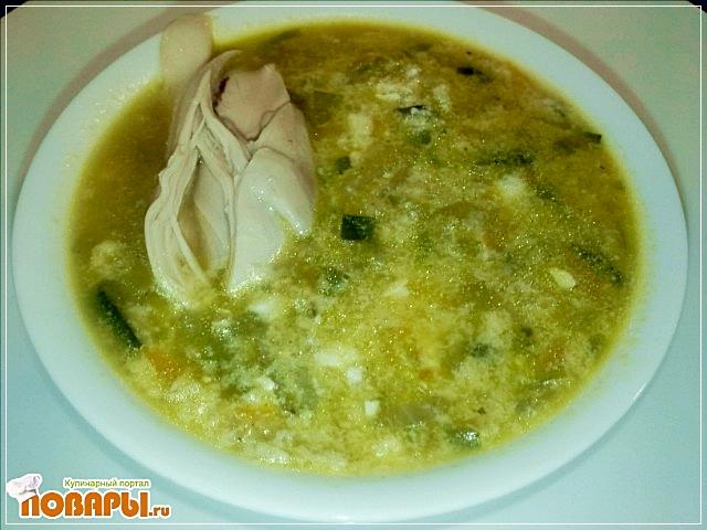 Рецепт суп овощной с луком пореем