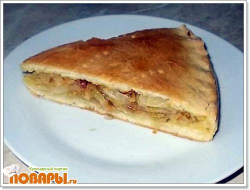 Рецепт Пирог с капустой. Тесто без яиц.