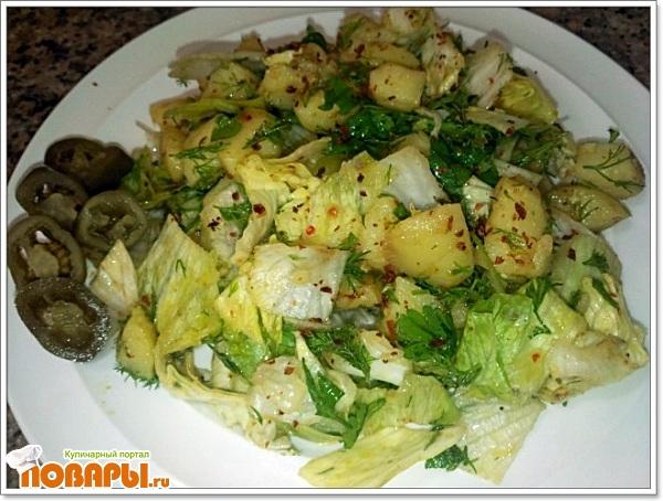 Рецепт Картофельный острый салат