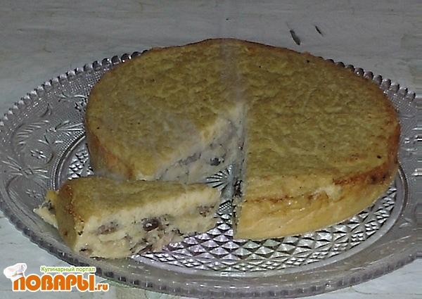 Рецепт Картофельная бабка с грибами