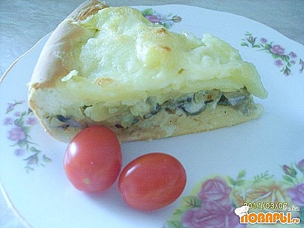 Рецепт Пирог с картофелем и грибами