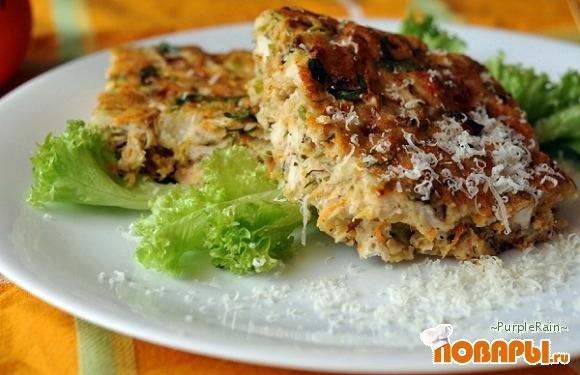 Рецепт Запеканка с курицей и морковкой