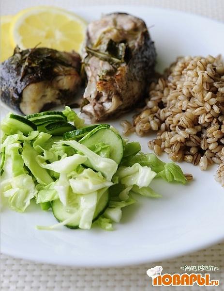 Рецепт Рыба приготовленная в рукаве