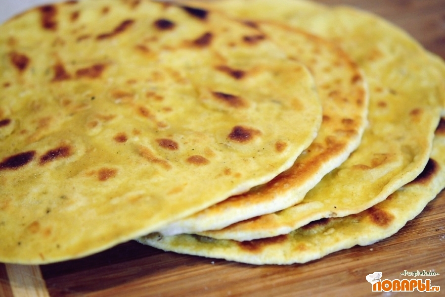 Рецепт Ремейк на рецепт Индийских чапати