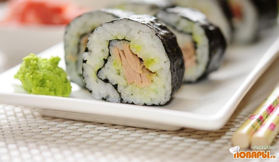 Рецепт Суши обычные с тунцом