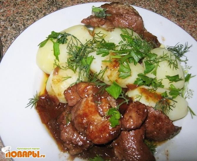 Рецепт Свинина в винном соусе