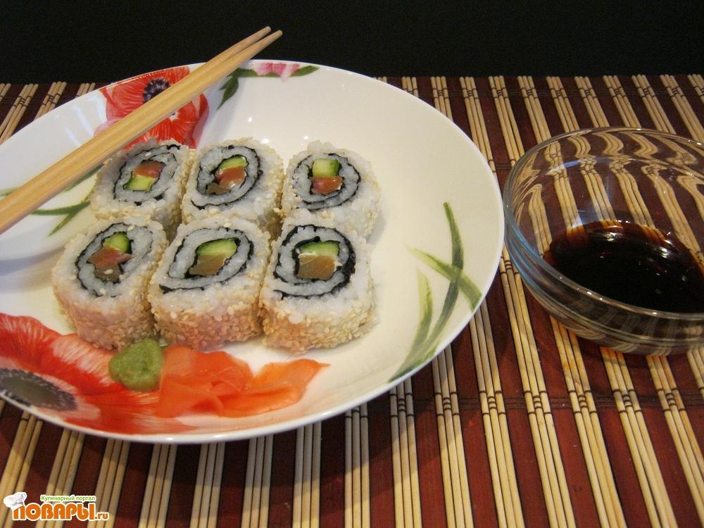 Рецепт Урамаки (роллы рисом наружу)