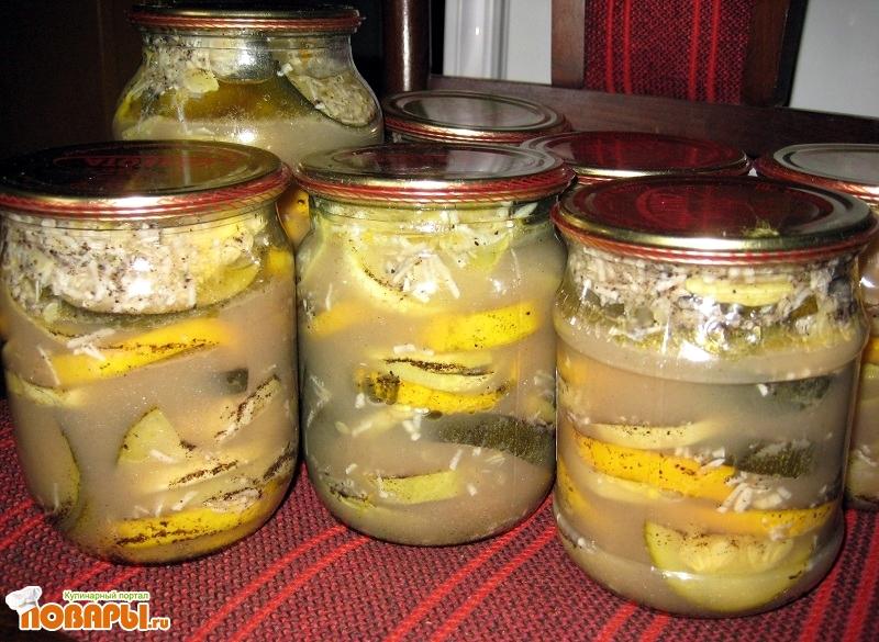 Рецепт Острые кабачки на зиму