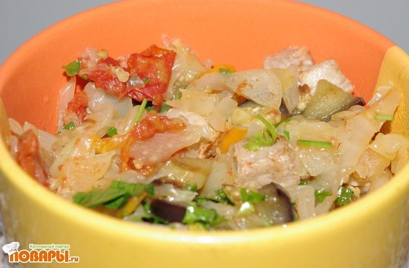 Рецепт Летнее овощное рагу с мясом