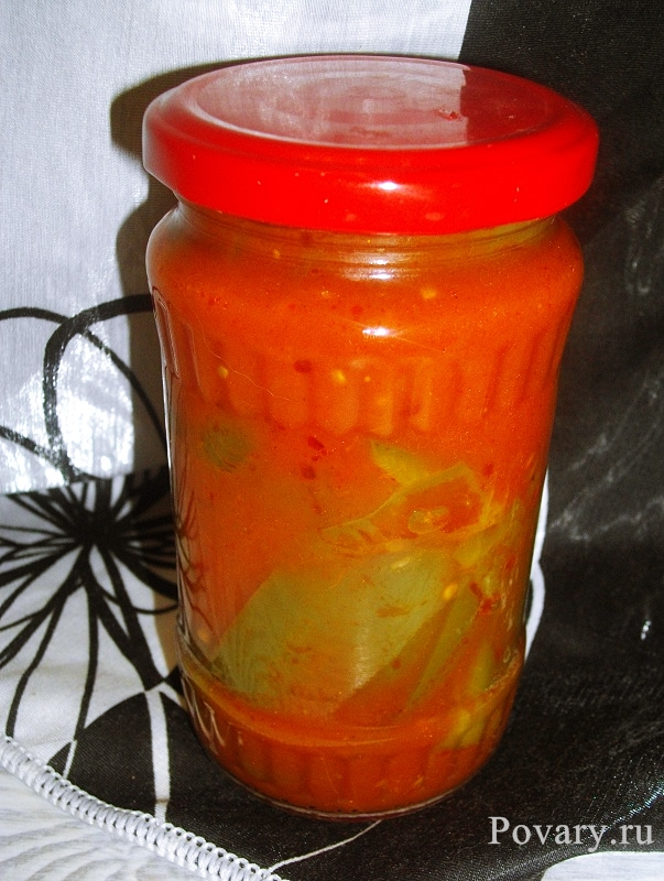 Рецепт Сладкий перец в томатном соусе