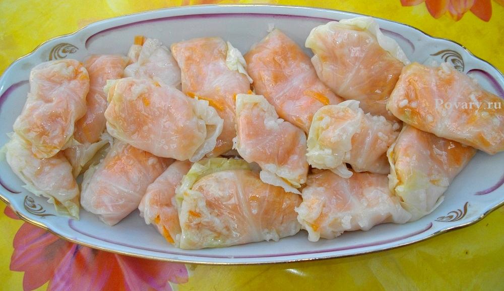 Рецепт Квашеные голубцы с морковью