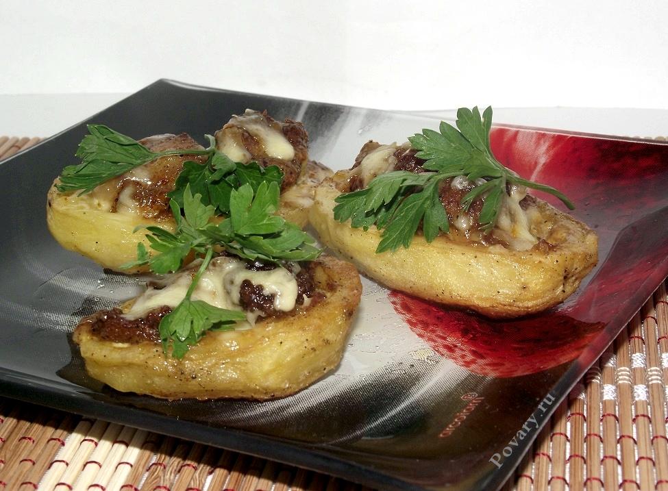 Рецепт Картофельные лодочки с мясом
