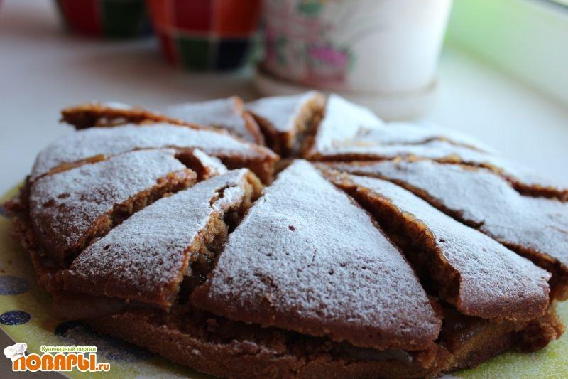 Рецепт Сладкий пирог-торт на яблочном отваре с яблочным джемом