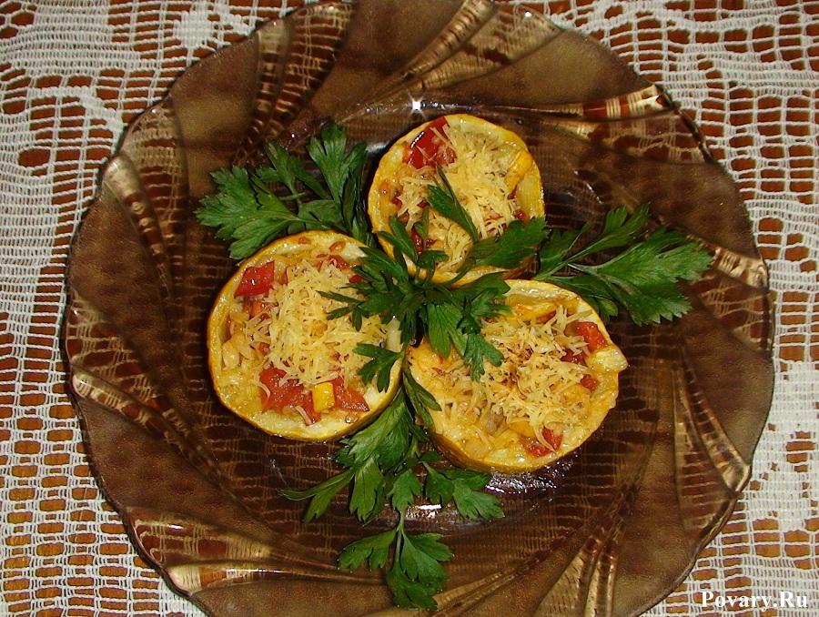 Рецепт Кабачки с овощной начинкой