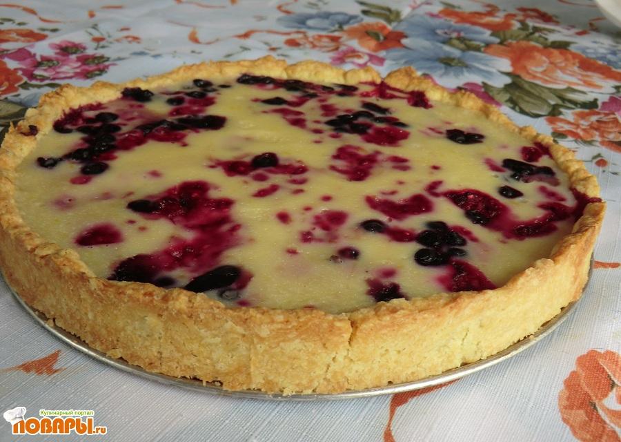 Рецепт Чернично-малиновый пирог с белым шоколадом