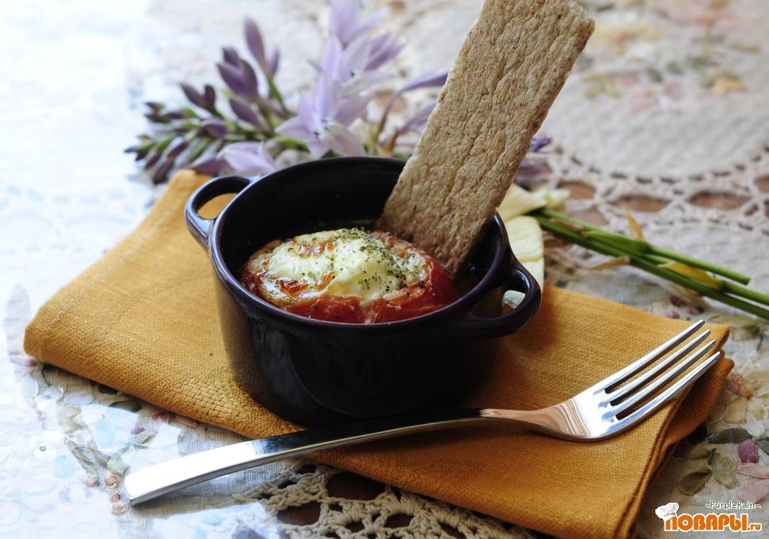 Рецепт Запеченный помидор с яйцом