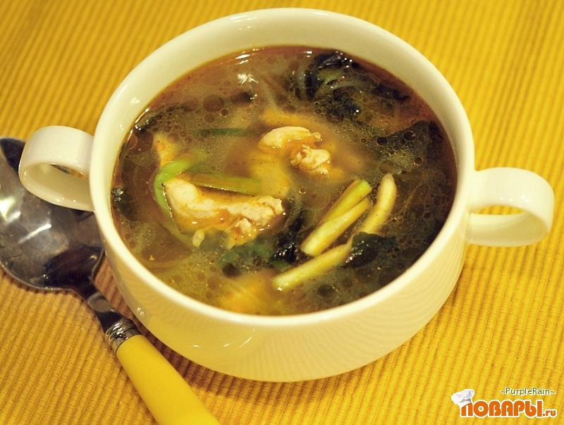 Рецепт Куринный суп «Китайские будни»