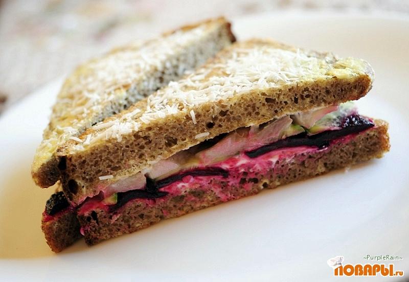 Рецепт Бутерброд «Селедка под шубой»