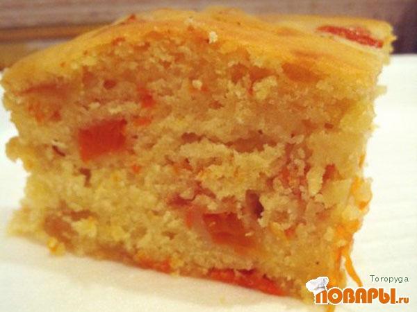 Рецепт Лимонный бисквит с тыквой
