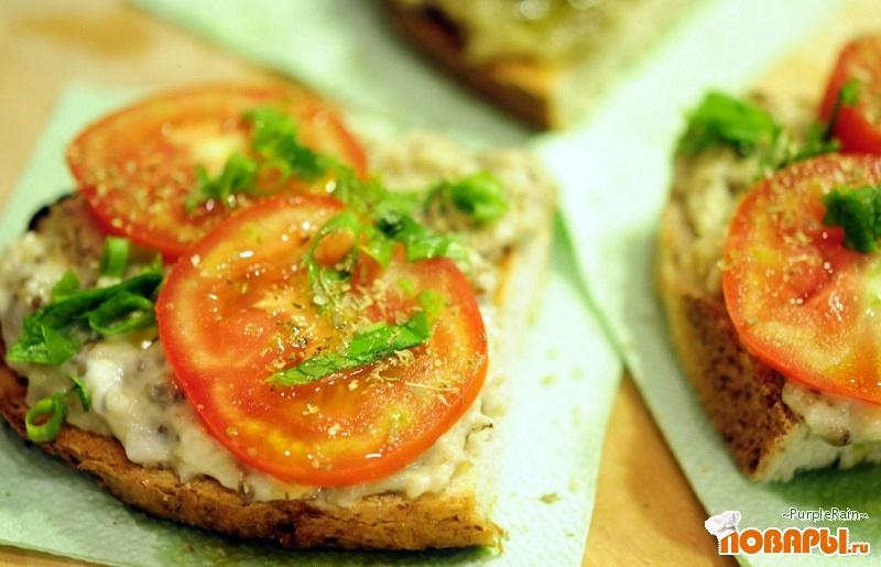 Рецепт Бутерброды с баклажанами