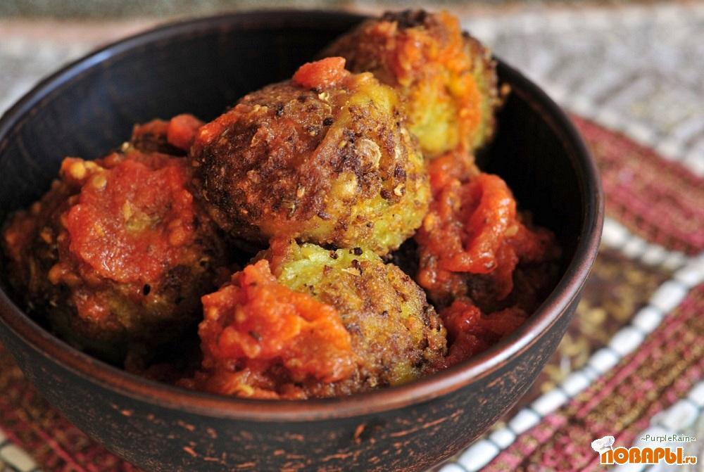 Рецепт Жаренные овощные шарики (Алу кофта)
