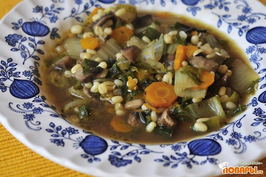 Рецепт Овощной суп с пророщенным машем