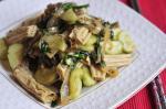 Салат с фучжу и баклажанами