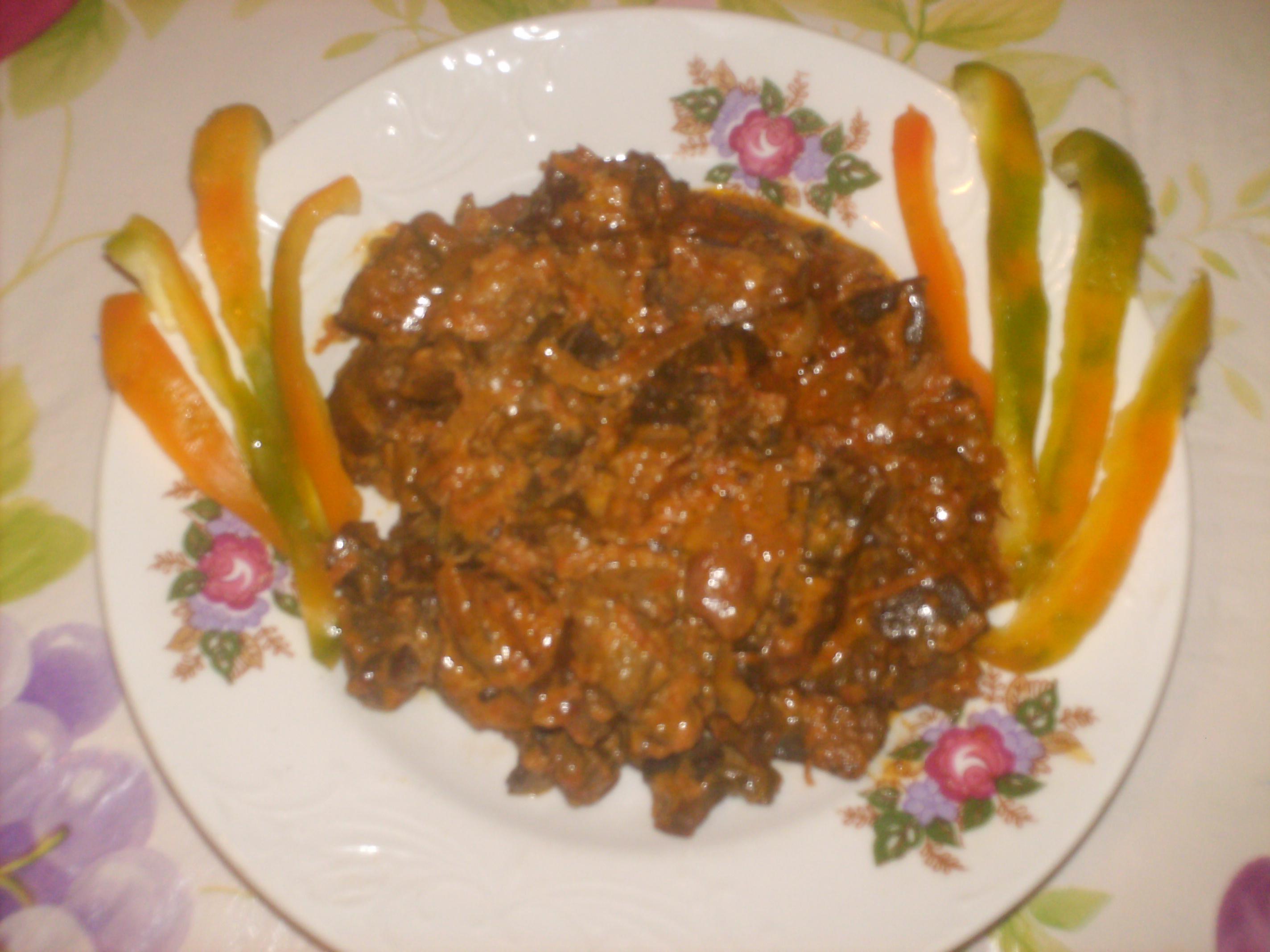 Рецепт Гусиные пупочки в сметанном соусе
