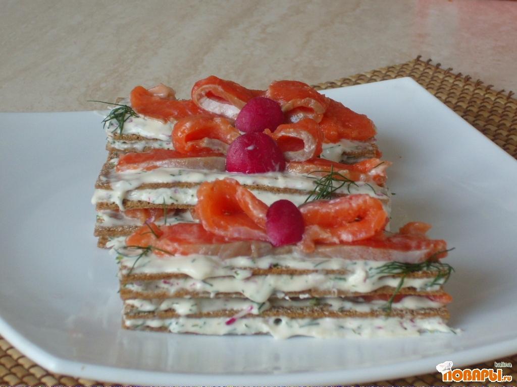 Рецепт Башенки из хрустящих хлебцов