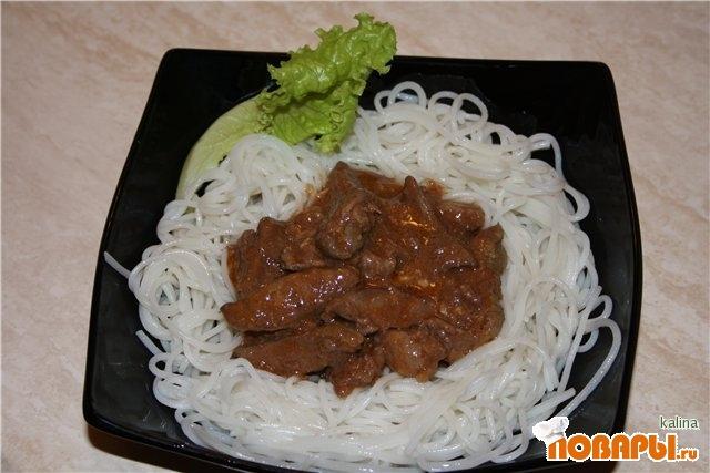 Рецепт Поджарка из печени по-восточному